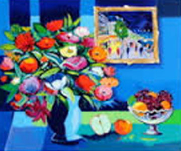 Fleurs a La Coupe De Fruits 1995 Limited Edition Print - Jean Claude Picot