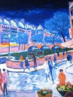 La Neige Sur Les Quais 1999 Limited Edition Print - Jean Claude Picot