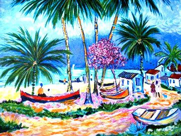 Barques De Peche En Guadaloupe 1999 Limited Edition Print - Jean Claude Picot
