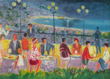 La Terrasse La Soir a Cames 2004 Limited Edition Print - Jean Claude Picot