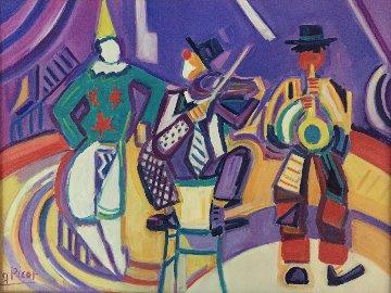 Le Cirque Medrano 21x18 Original Painting - Jean Claude Picot