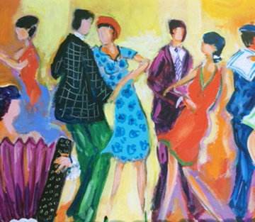 Tango Tango 2006 18x15 Original Painting - Jean Claude Picot