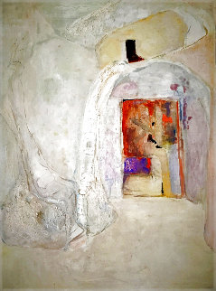 Untitled Abstract Painting 1970 61x46 Super Huge Original Painting - Pierre Lesieur