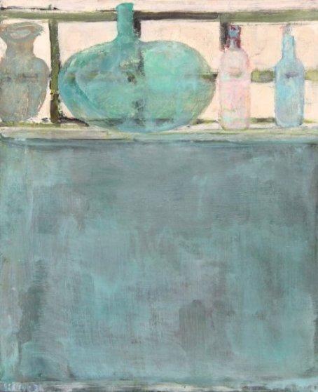 Le Bouteille 1972 29x23 Original Painting by Pierre Lesieur