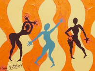 Three Graces 2011 33x27 Works on Paper (not prints) by Pierre Matisse - 0