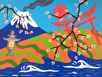 Oh Japan, Land of Beauty 24x32 Works on Paper (not prints) - Pierre Matisse