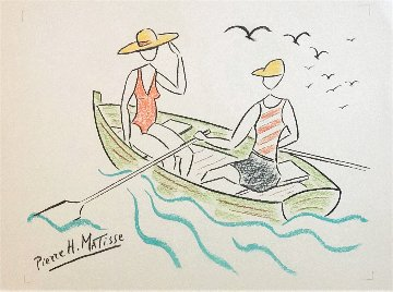 An Afternoon At Sea Drawing - Pierre Matisse