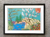 Cherry Blossom Bridge 26x36 Works on Paper (not prints) by Pierre Matisse - 1