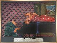 A Tropical Heat Wave 1990 38x50 Super Huge Original Painting by Markus Pierson - 1