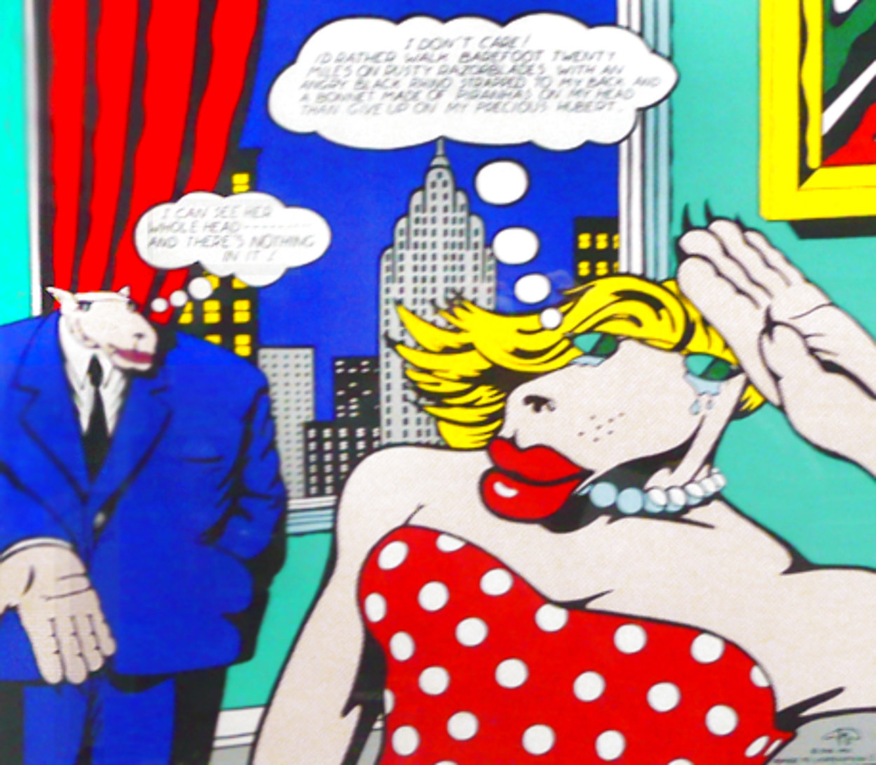 Homage to Lichtenstein I 1992 Limited Edition Print by Markus Pierson