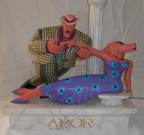 Amor Wood Sculpture Sculpture by Markus Pierson