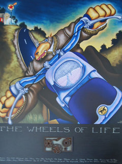 Wheels of Life 2004 on Panel Limited Edition Print - Markus Pierson