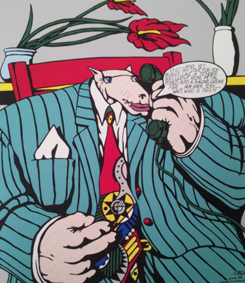 Homage to Lichtenstein II and IV, Set of 2 1992 Limited Edition Print by Markus Pierson