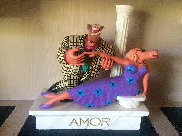 Amor Wood Sculpture 1990 Sculpture by Markus Pierson