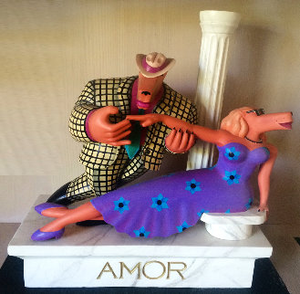 Amor Wood Sculpture 1990 Sculpture - Markus Pierson