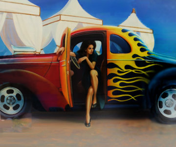 Hot Rod 1992 27x31 Original Painting - Patrick Pierson