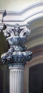 Architectural  Column  1994 41x34 Super Huge Original Painting - Patrick Pierson