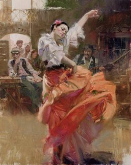 Flamenco in Red 2006 Limited Edition Print by  Pino
