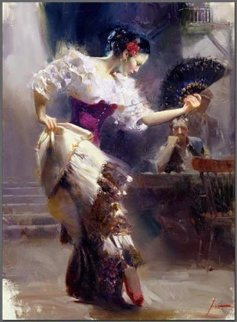Dancer Embellished Limited Edition Print by  Pino