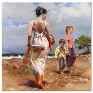 Mediterranean Breeze Embellished Limited Edition Print by  Pino