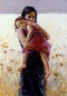 Maternal Instincts Embellished Limited Edition Print by  Pino