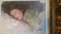 Sleeping Child 26x30 Original Painting by  Pino - 2