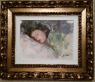 Sleeping Child 26x30 Original Painting by  Pino - 1