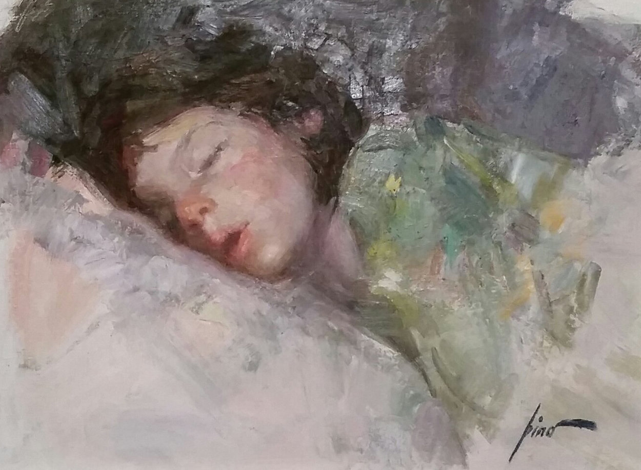 Sleeping Child 26x30 Original Painting by  Pino