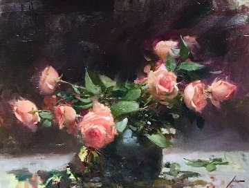 Roses 2003 27x35 Original Painting by  Pino