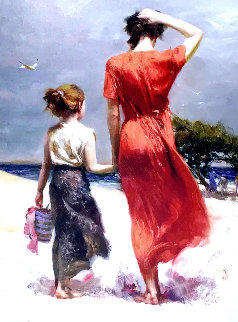 Afternoon Stroll Limited Edition Print by  Pino