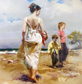 Mediterranean Breeze AP Embellished Limited Edition Print by  Pino