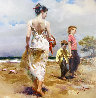 Mediterranean Breeze AP Embellished Limited Edition Print by  Pino - 0