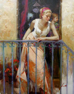 At The Balcony Limited Edition Print by  Pino
