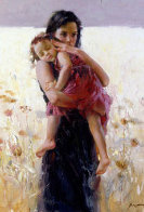 Maternal Instincts AP 2008 Embellished Limited Edition Print by  Pino - 0