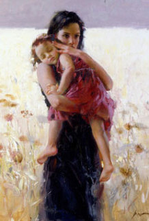 Maternal Instincts AP 2008 Embellished Limited Edition Print by  Pino