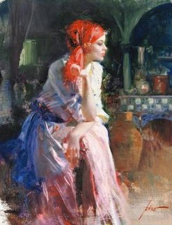 Lost in Thought Embellished Limited Edition Print -  Pino