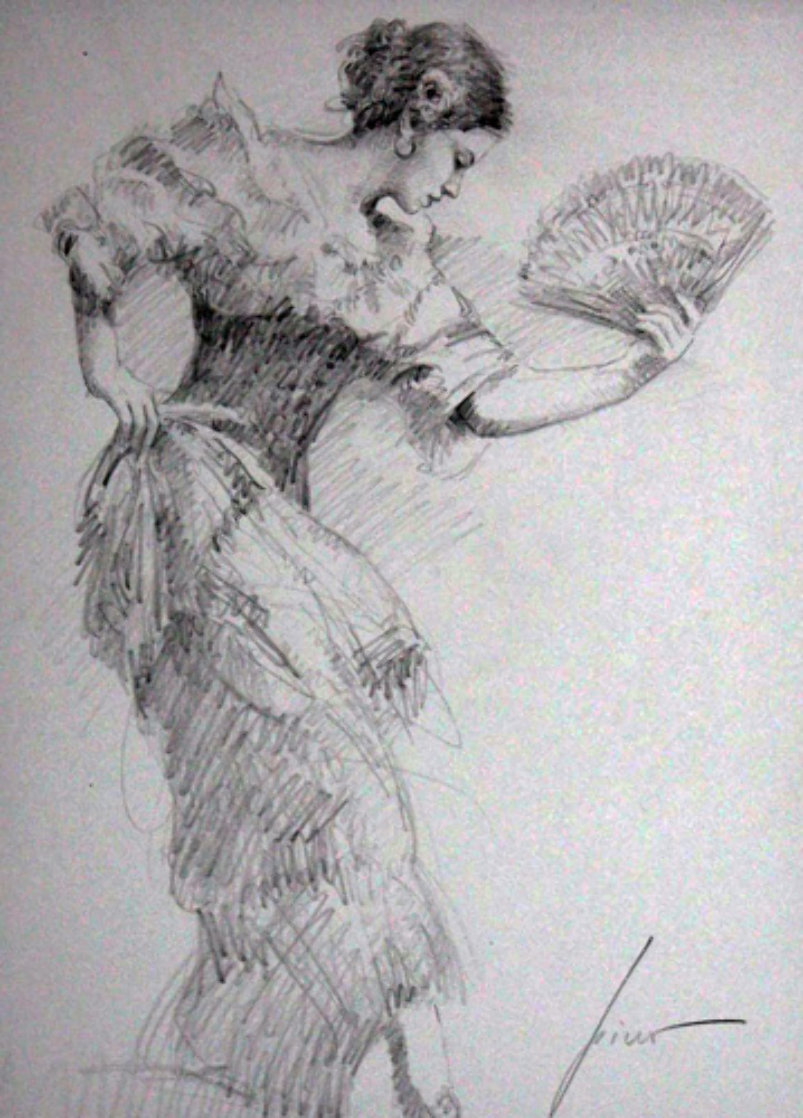 Flamenco Dancer Drawing 2010 30x26 Drawing by  Pino