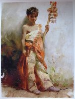 Young Peddler Limited Edition Print by  Pino - 5