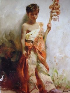 Young Peddler Limited Edition Print by  Pino