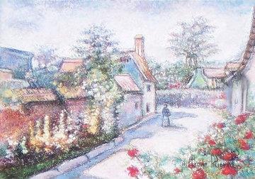 La Rue Principal a Fleury Pastel 1993 10x13 Original Painting - H. Claude Pissarro