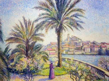 Le Palmier Du Jardin Catharina a Cannes 2011 Limited Edition Print - H. Claude Pissarro