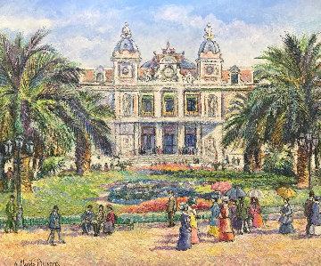 Monaco, Le Casino 2011 34x48 Original Painting by H. Claude Pissarro