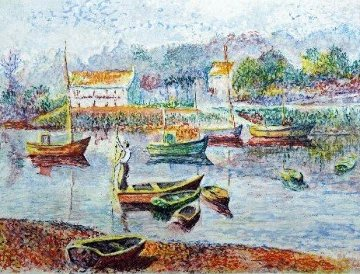 l\' Embaracadere 1990 Limited Edition Print - H. Claude Pissarro