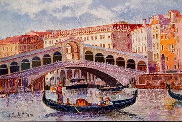 Venise, La Gondole De Lodovico Pastel 2013 33x38 Original Painting - H. Claude Pissarro