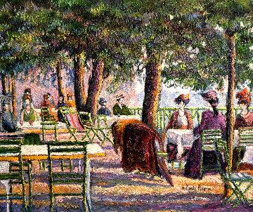 La Terrasse De l'empire (Boussy-les-bains) 2018 30x24 Original Painting - H. Claude Pissarro