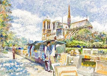 Le Marchand D' Estampes 2017 30x36 Original Painting - H. Claude Pissarro