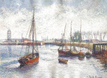 L'entree Ju Canal Au Ouistreham 29x34 Works on Paper (not prints) - H. Claude Pissarro