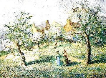Les Galeuses De Pommes Limited Edition Print - H. Claude Pissarro