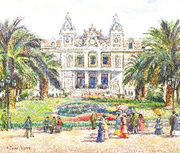 Monaco Le Casino 2011 24x30 Original Painting - H. Claude Pissarro