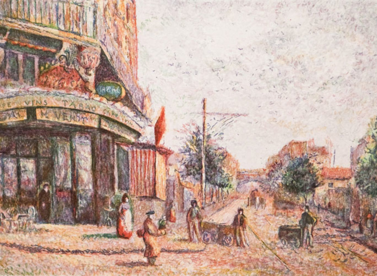 Avenue of the Street Vendor (State I) Limited Edition Print by H. Claude Pissarro